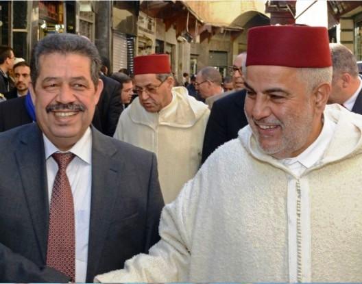 الأمين العام لحزب الاستقلال المغربي حميد شباط رفقة رئيس الحكومة المغربية عبد الإله بن كيران (الوم 24)