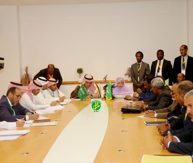 جانب من الاجتماع التحضيري للجنة الموريتانية السعودية المشتركة بقصر المؤتمرات في نواكشوط (وم أ)
