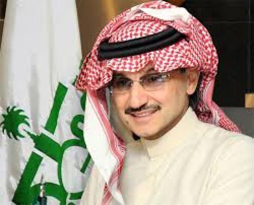 الوليد بن طلال الأمير السعودي الذي أعلن التبرع بثروته للعمل الخيري (وكالات)