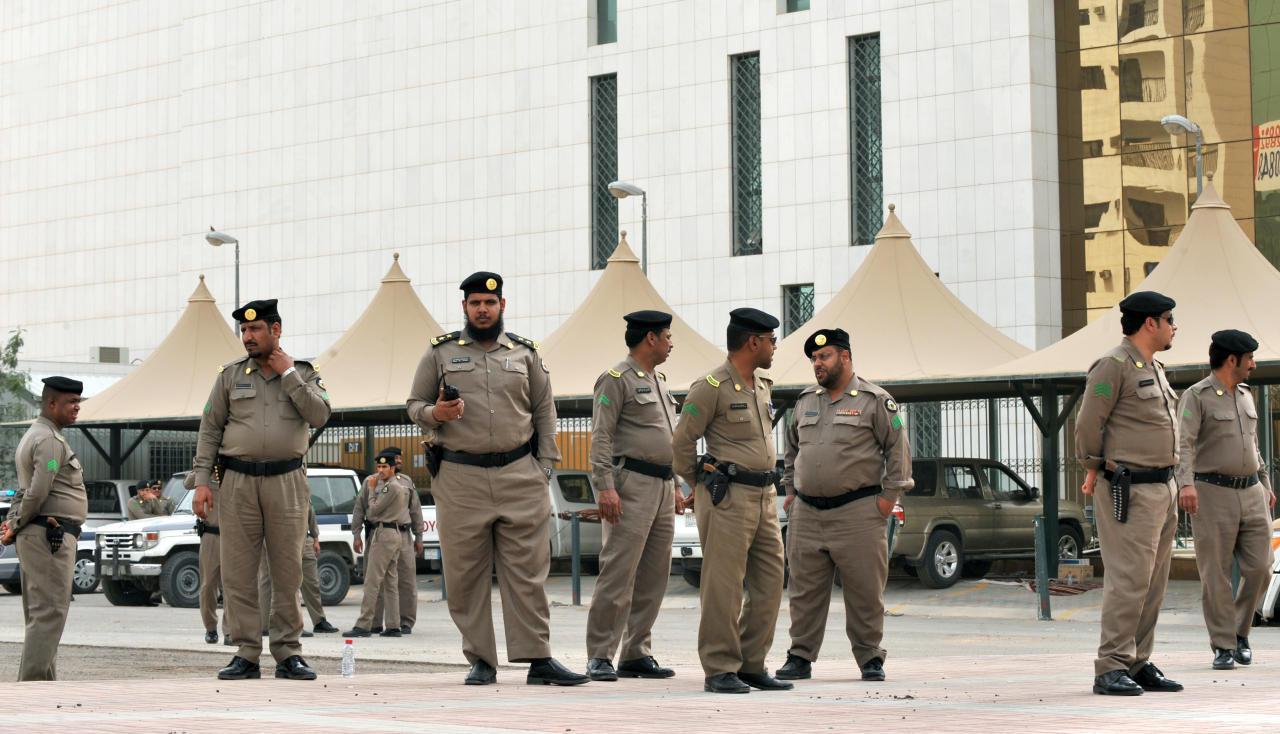 صورة من الأمن السعودي