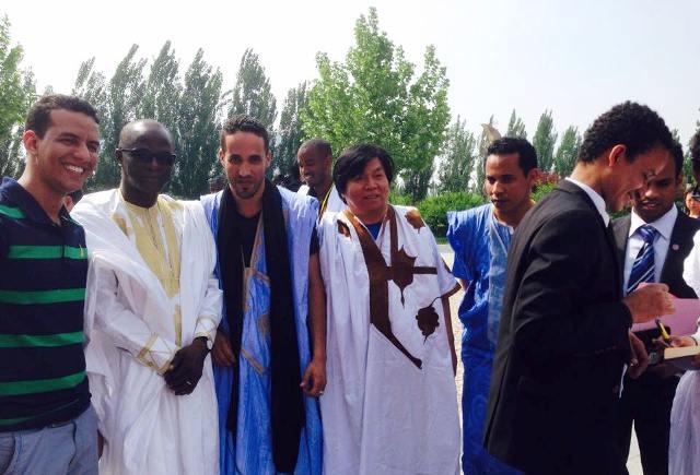 جانب من أحد الأنشطة الثقافية التي نظمها الطلبة الموريتانيون في الصين (السراج)