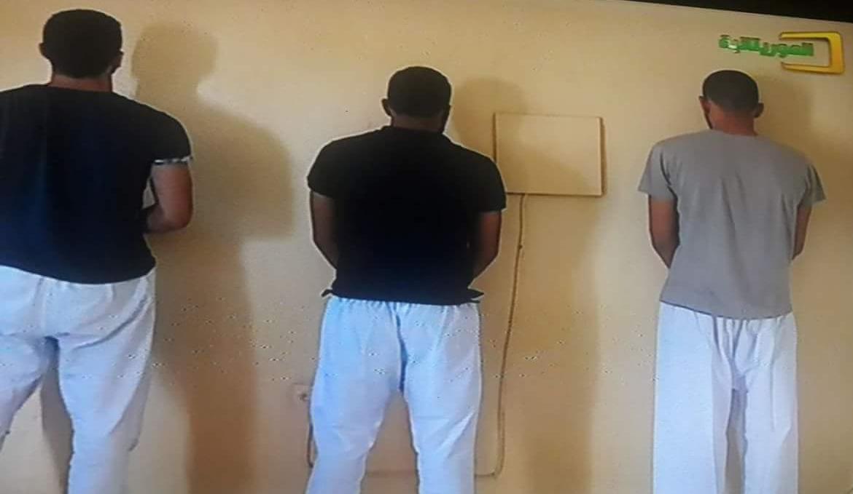 المعتقلون الثلاثة كما عرضتهم القناة الرسمية