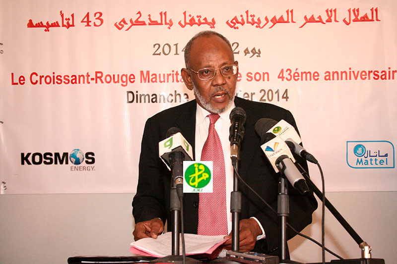 رئيس الهلال الأحمر في موريتانيا اسلمو ولد محمد فال