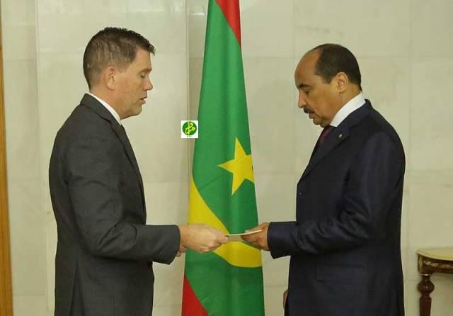 السفير الأمريكي الجديد مع الرئيس الموريتاني