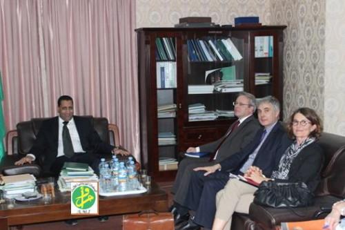 مباحثات بين وزير اقتصاد موريتانيا والوكالة الفرنسية للتنمية