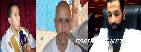 من اليمين ولد عبد العزيز ولد صلاحي وسيدآمين