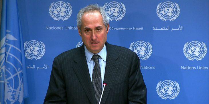 ستيفان دوغريك: المتحدث باسم الأمين العام للأمم المتحدة.