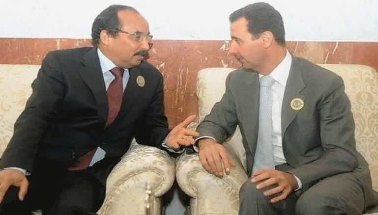 الرئيسان الموريتاني محمد ولد عبد العزيز والسوري بشار الأسد.