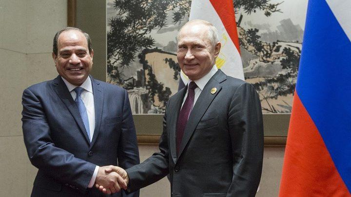 الرئيسان الروسي فلادمير بوتين والمصري عبد الفتاح السيسي