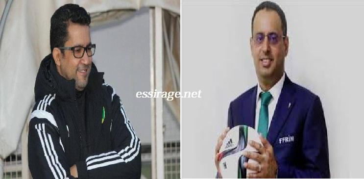من اليمين الرئيس أحمد ولد يحي والدكتور محمد محمود الحسن