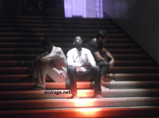 جانب من عرض مسرحية من تقديم جمعية المسرحيين الموريتانيين (السراج)