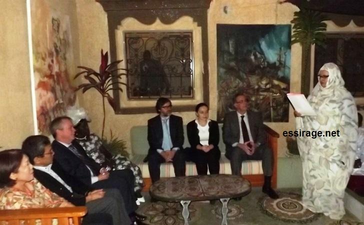 رئيسة هيئة المعلومة للثقافة والتراث والفنون أثناء الكلمة الرسمية (السراج)