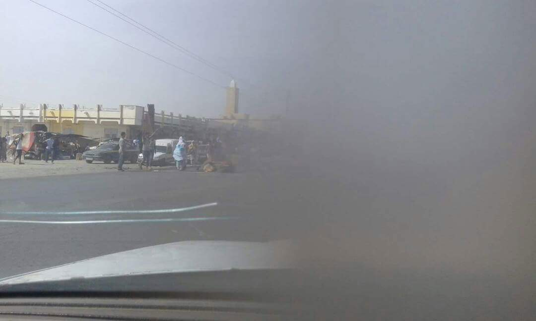مشهد من قمع مسيرة بوحديده