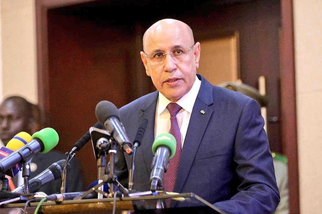 الرئيس الموريتاني محمد ولد الشيخ الغزواني خلال مشاركته في قمة سابقة