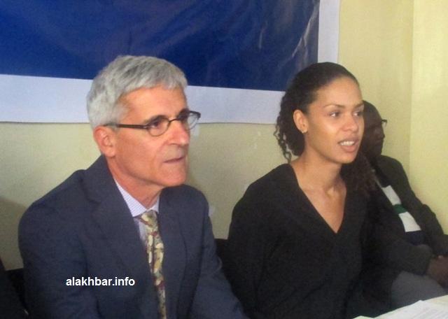 رئيس البعثة خلال مؤتمر صحفي