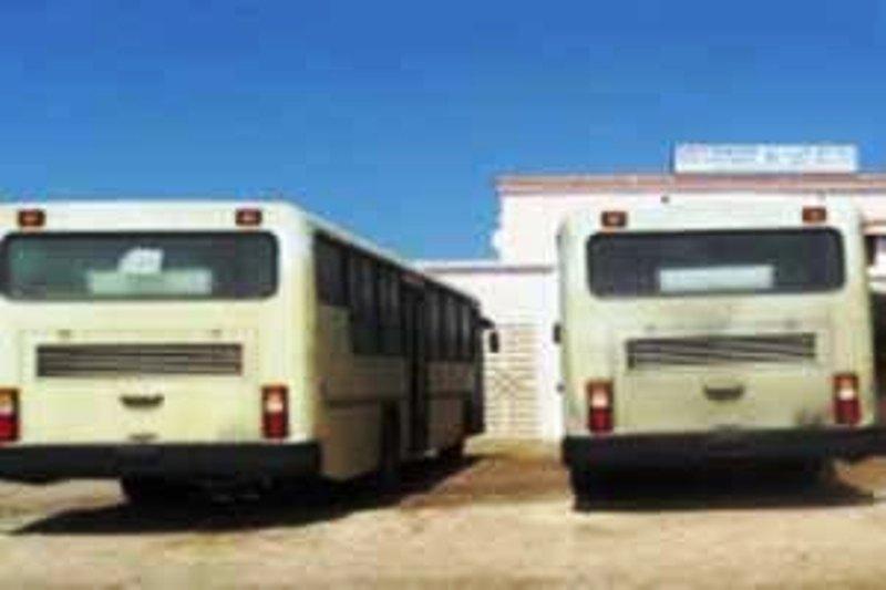جانب من مساعدات إيران التي قدمتها لموريتانيا في عز علاقاتهما، حيث تمثلت هذه المساعدات في باصات شكلت دعامة مهمة لشركة النقل العمومي بموريتانيا