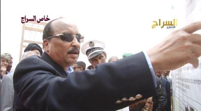 الرئيس الموريتاني يشير للأرقام التي وصفها بالكاذبة