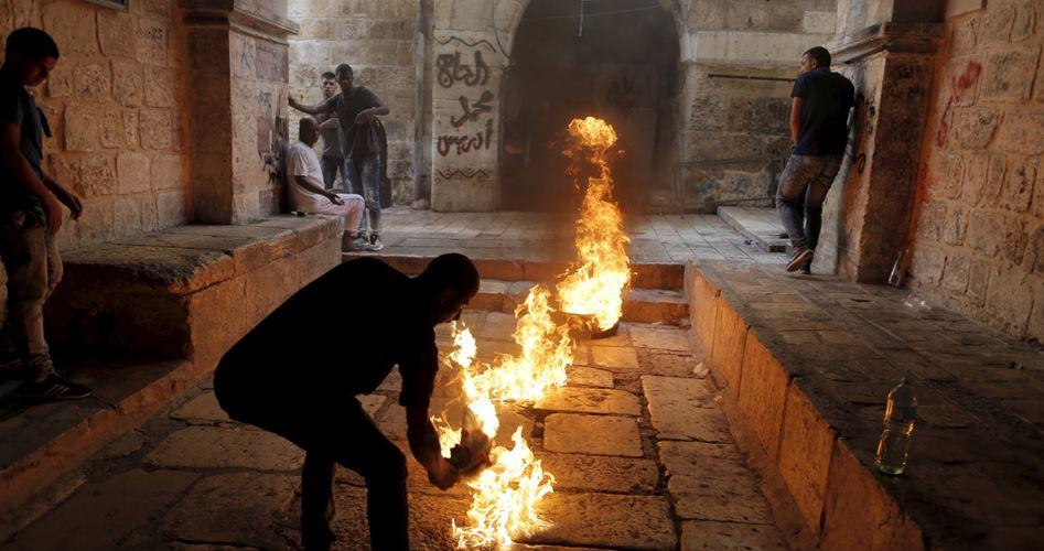 مواجهات وحارقات ضد الاحتلال في القدس وبيت لحم