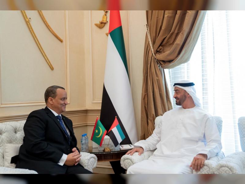 وزير الخارجية الموريتاني وولي عهد أبوظبي