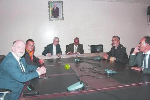 جانب من الجلسة الختامية للجنة الموريتانية الأوروبية المشتركة للصيد البحري.