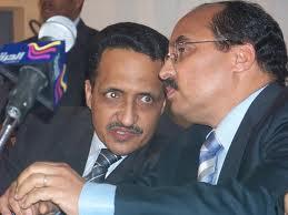 إسلك ولد إزيد بيه وولد عبد العزيز خلال أول زيارة للأخير لجامعة نواكشوط