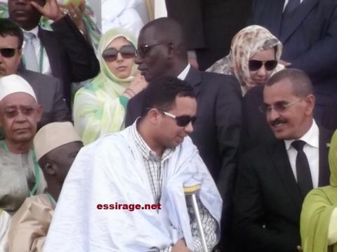بدر خلال حفل تنصيب والده أغسطس 2014