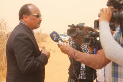 الرئيس خلال حديثه مع قناة المرابطون