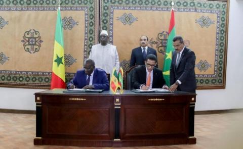 توقيع اتفاقية سابقة بين البلدية خلال زيارة للرئيس السنغالي إلى نواكشوط.