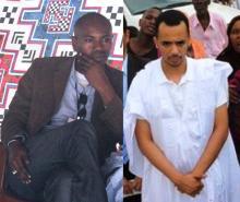 صورة اليمين لاحمد ولد عبد العزيز واليسار للصحفي الشيخ عمر انجاي رحمهما الله (السراج)