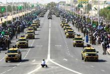تشكيلات أمن الطرق في العرض العسكري 25 نوفمبر 2013 (أرشيف)