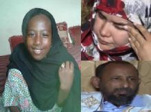 الطفلة ضحية الاغتصاب زينب ووالدها عبد الله ومربيتها عائشة