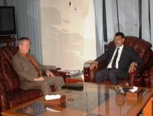 جانب من لقاء السفير الأمريكي بوزير الخارجية في نواكشوط (وم أ)