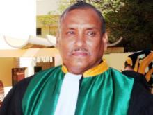 رئيس الهئية القضائية لاتحاد المغرب العربي المنتخب السيد ولد الغيلاني (السراج)