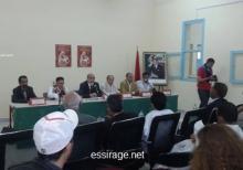 جانب من الندوة الفكرية بمدينة الطانطان المغربية والتي تطرقت إلى مضووعات الثقافة التونسية الحسانية (السراج)