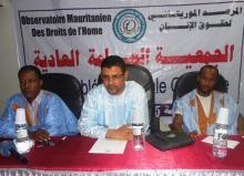 المكتب التنفيذي للمرصد الموريتاني لحقوق الإنسان خلال الجمعية العامة لتجديد هيئاته (السراج)