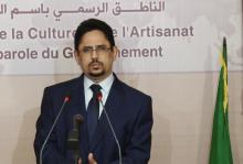 الوزير الناطق الرسمي باسم الحكومة الموريتانية محمد الأمين ولد الشيخ (أرشيف)