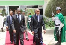 الوزير البيساو غيني وهو يغادر العاصمة نواكشوط منهيا زيارته التي دامت يومين (وم أ)