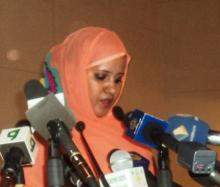 وزيرة الشؤون الخارجية والتعاون الموريتانية فاطمة فال بنت الصوينع (السراج - أرشيف)