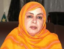 مفوضة حقوق الإنسان الموريتانية عائشة بنت امحيحم (وم أ + السراج)