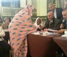 جانب من تسلم الناشطة الجمعوية جميلة بنت ديدة لرئاسة مكتب الاتحاد العربي للنساء المتخصصات بموريتانيا (السراج)