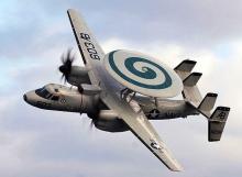 طائرة من طائرات حلف شمال الأطلسي وهي تقوم بعملية رصد وإنذار مبكر (أرشيف)