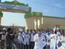 جانب من احتجاجات الطلبة أمام وزارة التعليم العالي
