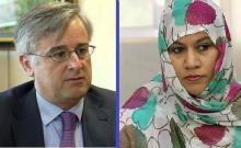 وزيرة التجارة الموريتانية وكاتب الدولة للشؤون الخارجية الإسباني