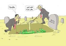 كاريكاتير بريشة الفنان خالد ولد مولاي إدريس (السراج)