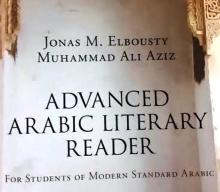 جزء من غلاف الكتاب الهادف إلى تعريف القارئ الأمريكي والأوروبي بالأدباء العرب في العصر الحديث (السراج)