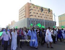 جانب من مسيرة حقوق لحراطين المنظمة يوم 29 إبريل من العام الماضي 2014 (السراج)