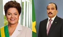 صرتين لكل من ريس موريتانيا محمد ولد عبد العزيز ورئيسة البرازيل ديلما روسيف (وم أ)