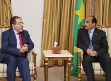 اللقاء الذي جمع بين ممثل الأمين العام للأمم المتحدة والرئيس الموريتاني