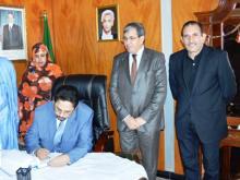 جانب من تعزية الحكومة الموريتانية للحكومة والشعب الجزائري في وفاة المناضل الجزائري حسين آيت أحمد (وم أ)