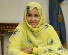 وزيرة الزراعة الموريتانية لمينة بنت القطب ولد امم (وم أ)